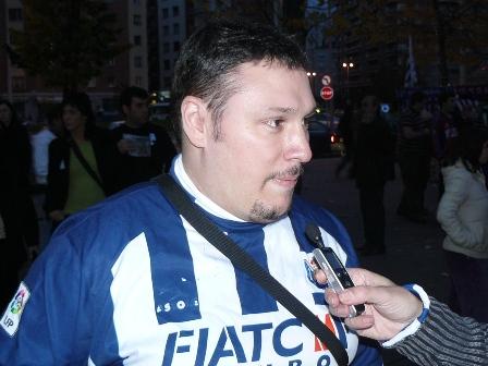 Luis, miembro de la peña Mikel Alonso