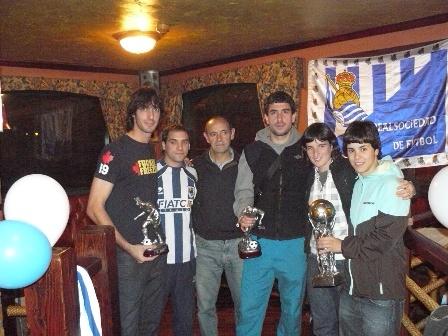 Charly, Luis, Juanjo, Eñaut, Saioa y Ainhara.