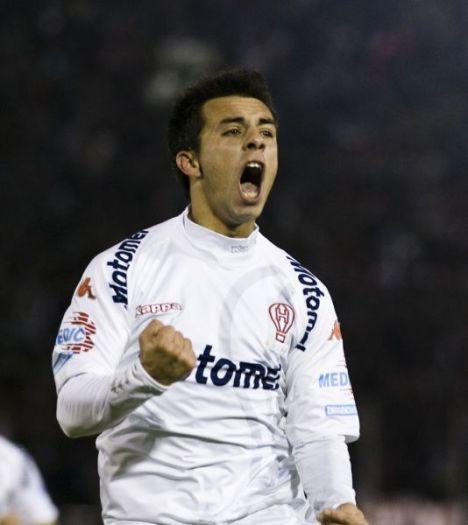 De Federico celebra un gol ante el Arsenal