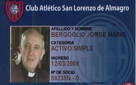 carnet de socio del San Lorenzo de Almagro del Papa
