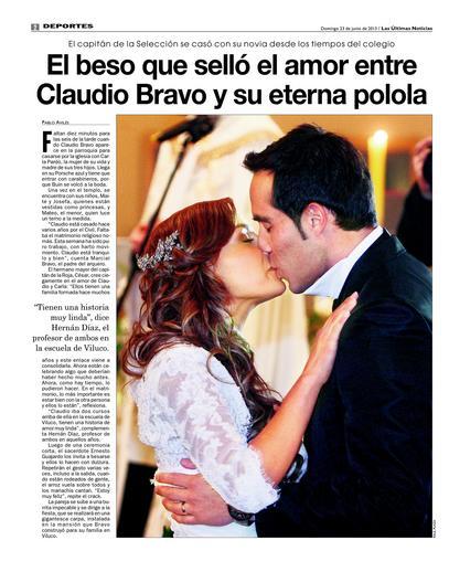 Las ultimas noticias.boda Claudio Bravo-Carla Pardo 2