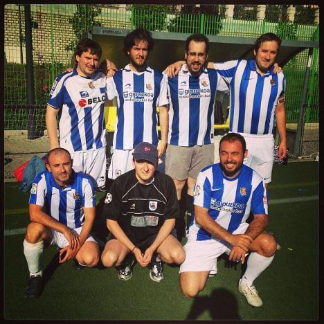 peñistas Real Sociedad-Celta 1