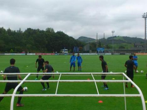 primer entrenamiento de la Real Sociedad