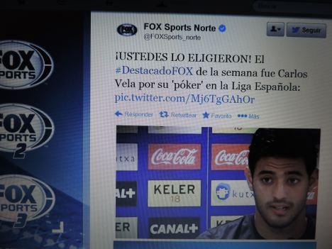 FOX Sports y Carlos Vela